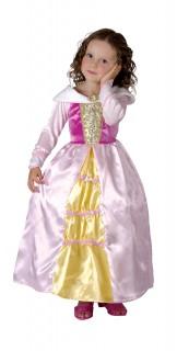 Prinzessinnen Kinder Kostüm rosa-gelb