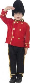 Englischer Wachmann-Kinderkostüm Sicherheitsmann rot-schwarz