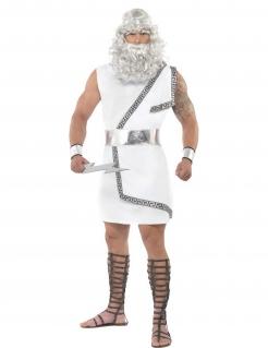 Zeus Antike Kostüm Gott weiss-silber