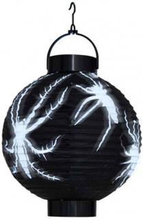 Halloween Laterne Spinne schwarz-weiss