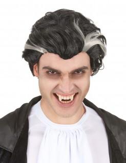Halloween Vampir Perücke schwarz-weiss