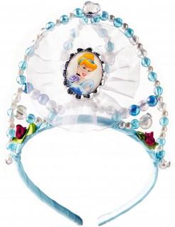 Cinderella-Krönchen Aschenputtel Tiara blau-weiss