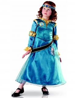 Merida™-Kostüm für Kinder Karneval blau