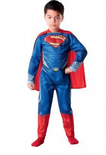 Superman Man of Steel Kinder Kostüm Lizenzware blau-rot-gelb