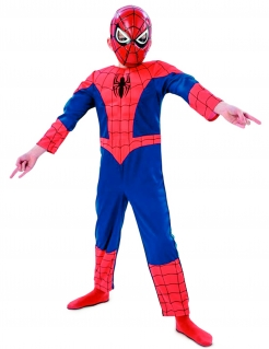 Ultimate-Spiderman-Kinderkostüm Marvel-Lizenzkostüm rot-blau-schwarz