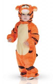 Tigger Kleinkinder-Kostüm Karneval Tiger orange-weiss-schwarz