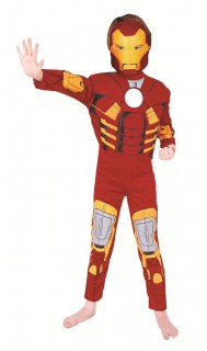 Iron Man Kinderkostüm Superheld Marvel-Lizenzkostüm rot-gelb