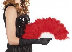 Feder-Fächer Kostüm-Accessoire rot