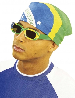 Bandana Kopftuch Brasilien-Flagge bunt 45x45cm