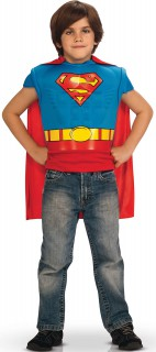 Superman Muscle Chest Kinder T-Shirt Lizenzware blau-gelb-rot