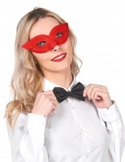 Venezianische Augenmaske Maskenball rot