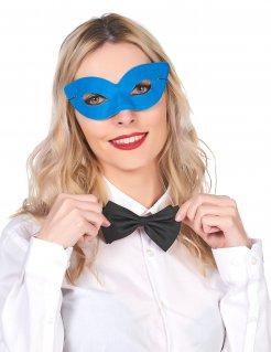 Venezianische Augen-Maske blau