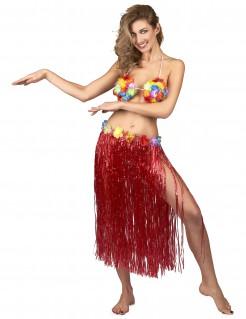 Hawaii Strandrock für Damen rot