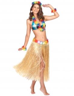 Hawaii Rock Bastrock Kostümzubehör lang beige-bunt