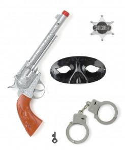 Cowboy Accessoire-Set 4-teilig bunt