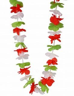 Italien-Blütenkette Italien-Fanaccessoire grün-weiss-rot