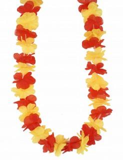 Spanien-Blütenkette Spanien-Fanaccessoire gelb-rot