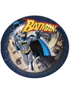 Batman-Teller Fliegender Batman Comic-Teller DC-Lizenzartikel 6 Stück schwarz-bunt 23cm