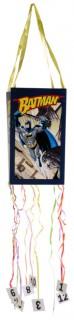 Batman-Piñata Superhelden-Piñata DC-Lizenzartikel blau-bunt 30x18cm
