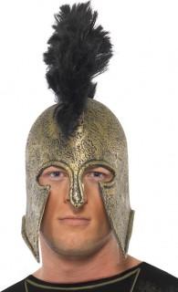 Gladiator Römer Krieger Helm gold-schwarz