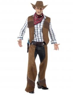 Cowboy aus dem wilden Westen - Kostüm für Herren braun