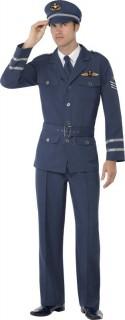 Schickes Flugkapitän-Kostüm Männer dunkelblau