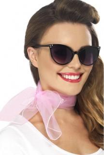 Damen-Halstuch mit Schleife Kostümaccessoire rosa