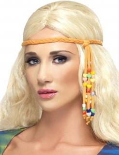 Hippie-Kopfband mit Perlen Hippie-Damenkostüm-Accessoire orange-bunt