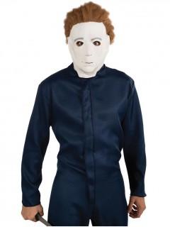 HalloweenMichael Myers Latexmaske Lizenzartikel weiss-braun