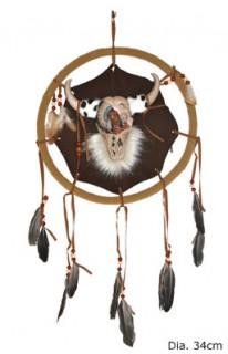 Traumfänger Indianer-Deko braun-grau 34cm