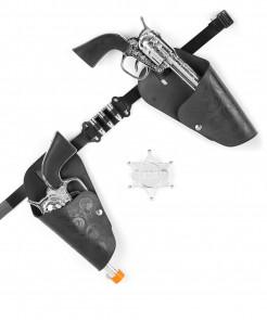 Wildwest Set Revolver Set silber-schwarz