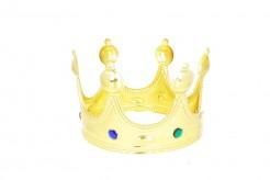 Mittelalterliche Königskrone Herrscherkrone mit Schmucksteinen gold-bunt