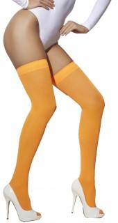 Neon-Strümpfe 80er-Damenstrümpfe orange