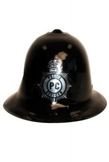 Englischer Polizeihelm Britischer Polizist Accessoire schwarz-silber