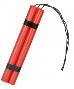 Fake Dynamit-Stangen rot-schwarz