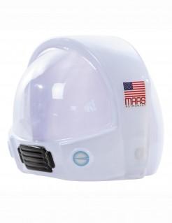 Raumfahrerhelm Astronauten-Helm mit Amerikaflagge weiss-rot-blau
