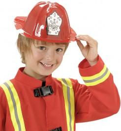 Feuerwehr-Kinderhelm Feuerwehrmann-Accessoire rot-silber