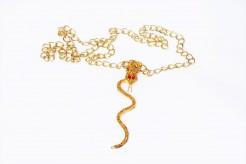 Schlangen-Halskette ägypterin-Halskette gold-rot