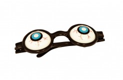 Glubschaugen-Brille Fun-Brille schwarz-blau-weiss