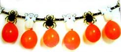 Luftballon-Girlande Halloween Raumdekoration orange-schwarz-weiss