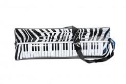 Aufblas-Klavier mit Umhängeschlaufe Aufblasbares Keyboard schwarz-weiss