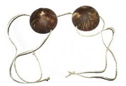 Kokosnuss Büstenhalter braun
