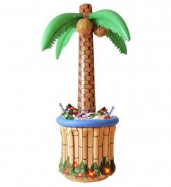 Aufblasbare Palme Getränkekühler Party-Zubehör braun 185cm