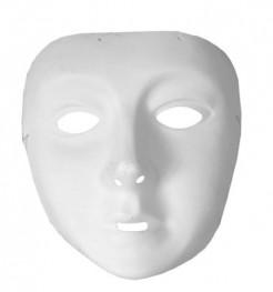 Klassische Karneval-Maske für Kinder weiss