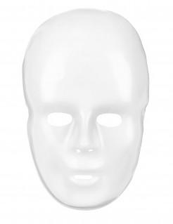 Klassische Karneval-Maske weiss