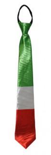 Italien-Fanartikel Spaß Krawatte grün-weiss-rot