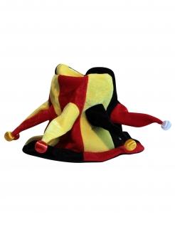 Harlekin Hut mit Glöckchen bunt