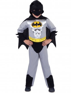 Batman Superheld Comic Kinderkostüm silber-schwarz-gelb