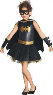 Batgirl™-Kostüm mit Glitzerpailletten für Mädchen Karneval schwarz-gold