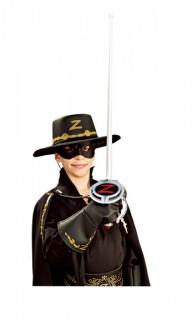 Zorro-Kinderset Accessoire-Set silber-schwarz-gold